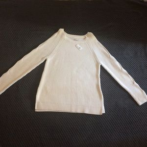 NWT Loft sweater with open shoulders